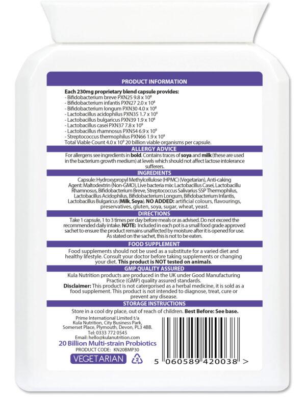 20 Billion Multi strain Probiotics 30 Ingredients