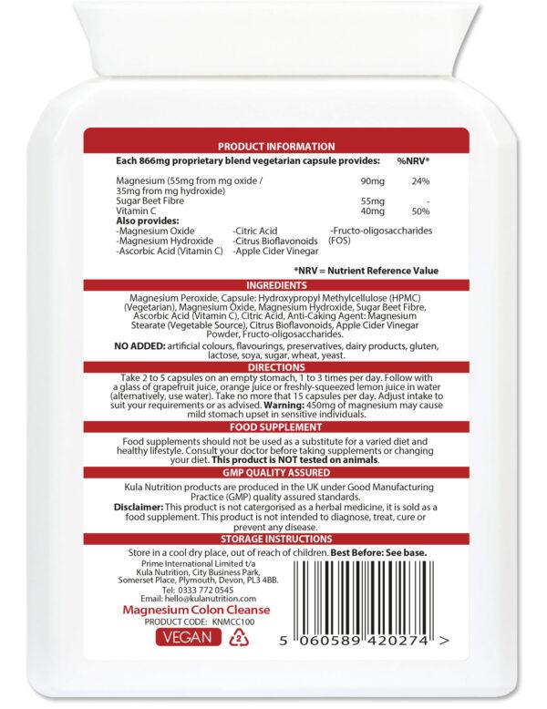Magnesium Colon Cleanse 100 Capsules