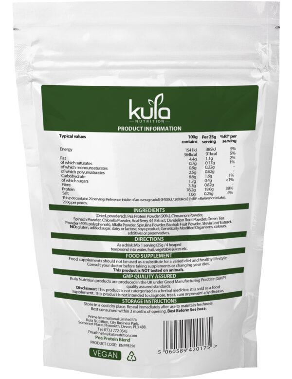Pea Protein Blend 250g Ingredients