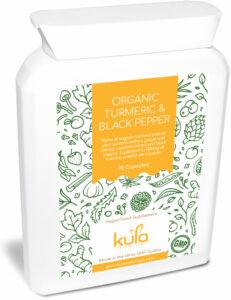 organic turmeric and black pepper supplement