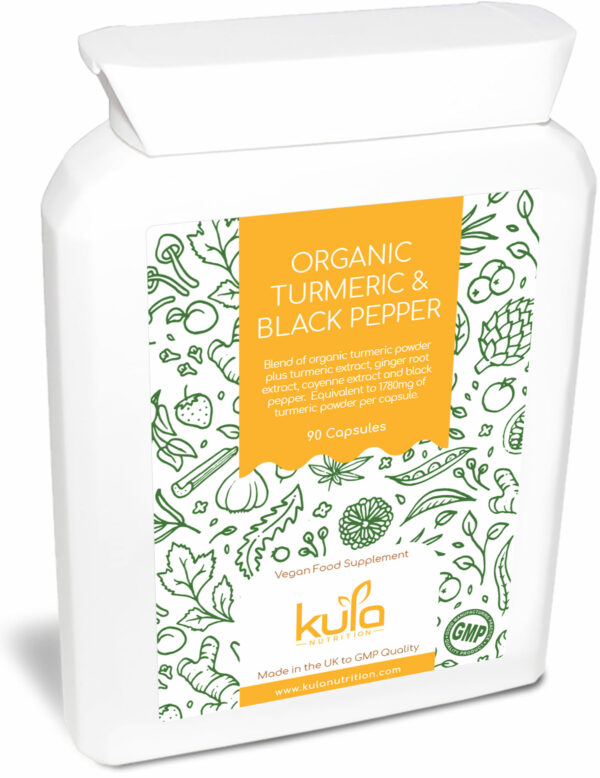 organic turmeric and black pepper supplement